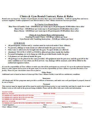 Gym Rental Contract
