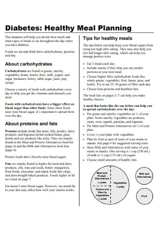 Healthy Meal Plan Template