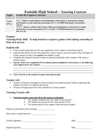 High School Tutoring Contract
