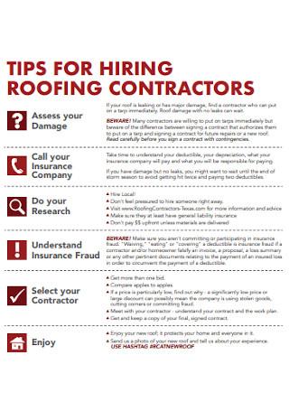 Hiring Roofing Contractor