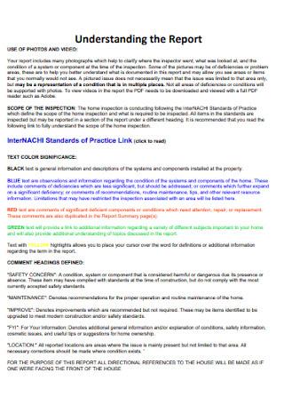 Home Inspection Understanding the Report