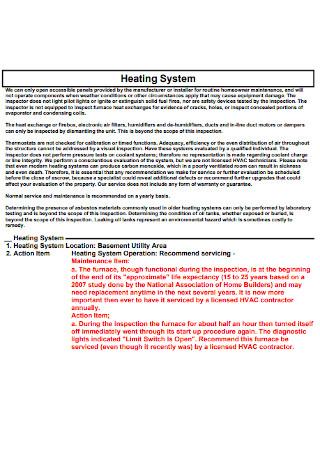 Home Repair Inspection Report
