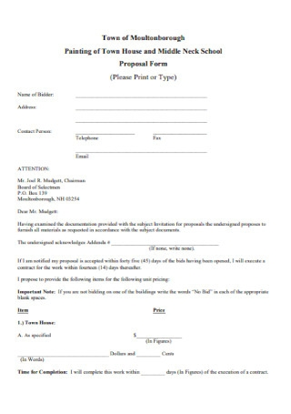 House Painting Contract Proposal