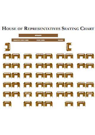 House Representative Seating Chart