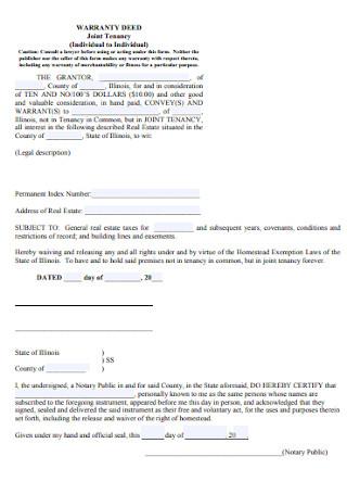 Joint Tenancy Warranty Deed