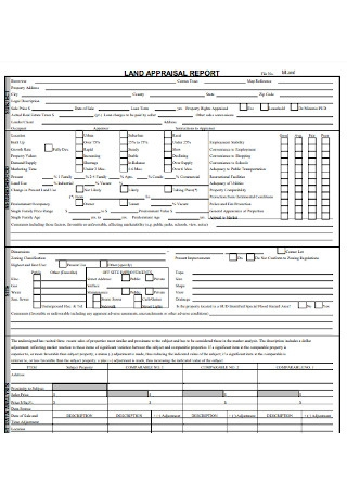 Land Appraisal Report
