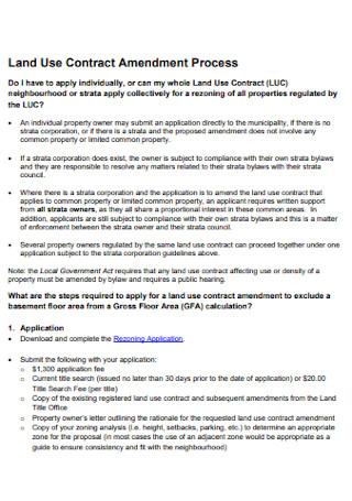 Land Use Contract Amendment
