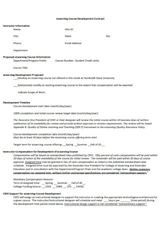 Learning Course Development Contract