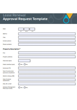 Lease Renewal Approval Form