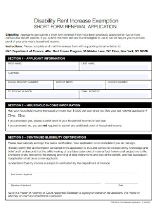 Lease and Rent Increase Renwal Form