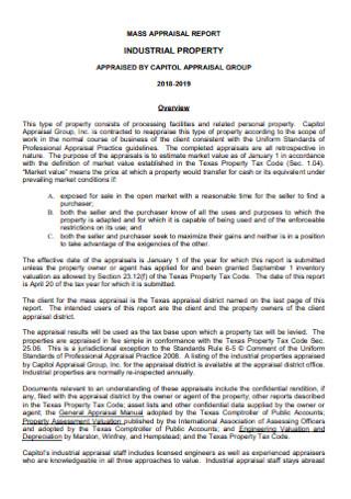 Mass Appraiisal Report