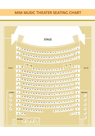 Music Theater Seating Chart