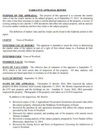 Narrative Appeaisal Report