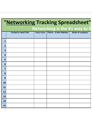Networking Tracking Spreadsheet