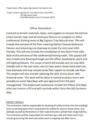 Office Renovation Contract