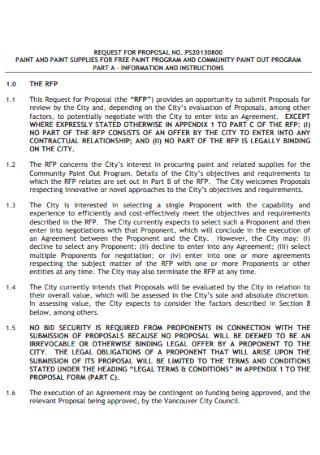 Paint Program Contract Proposal