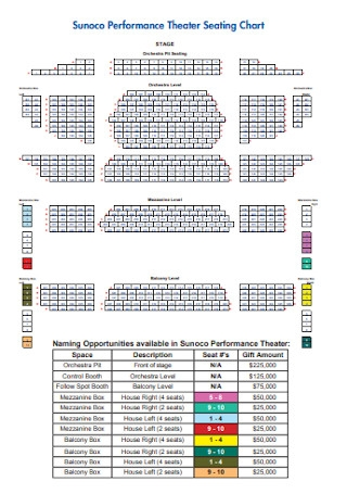 Performance Theater Seating Chart