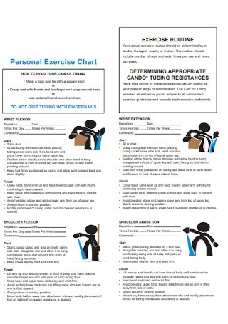 Personal Exercise Chart