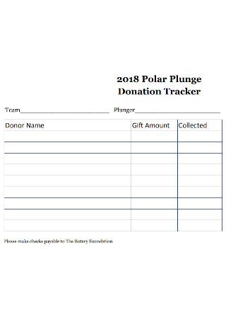 Polar Plunge Donation Tracker