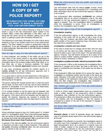 Police Data Report