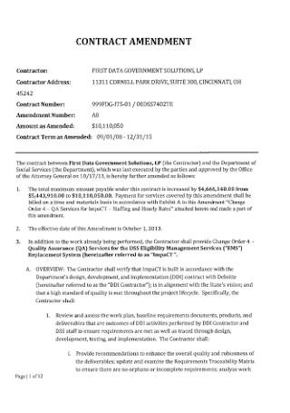 Printable Contract Amendment