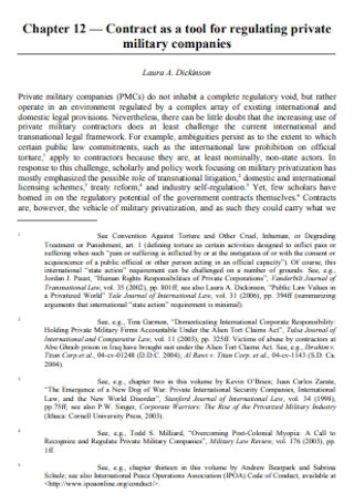 Private Companies Contract