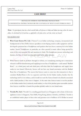 Problem Statement and Case Brief