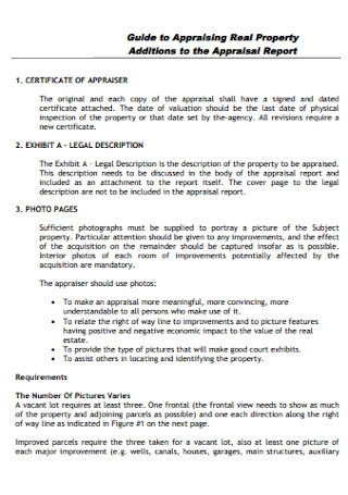 Real Property Appraisal Report