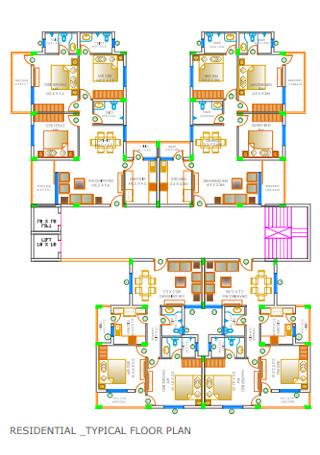 Residential Typical Floor Plan