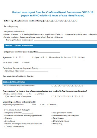 Revised Case Report Form