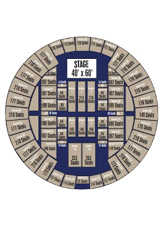Round Stage Seating Chart