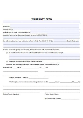 Sample Warranty Deed