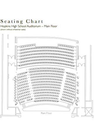 School Auditorium Seating Chart