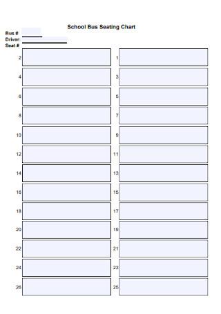 School Bus Seating Chart