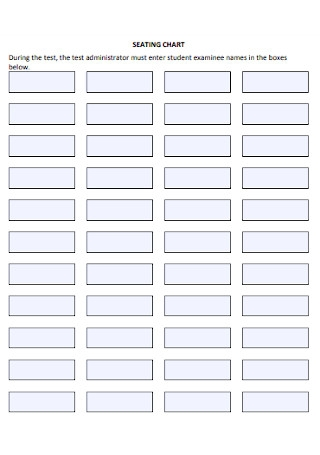 Seating Chart Format