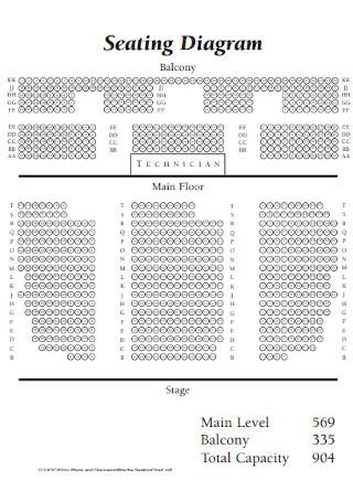 Seating Diagram Chart