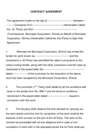 Simple Contract Agreement