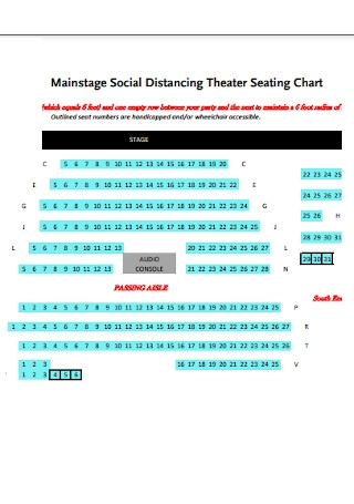 Social Distancing Theater Chart
