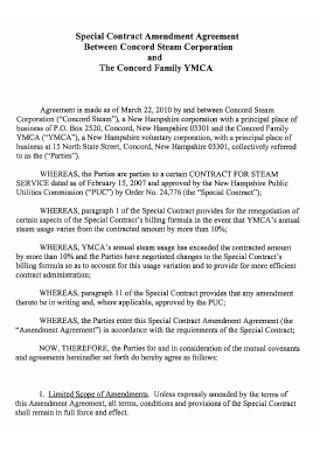 Special Contract Amendment