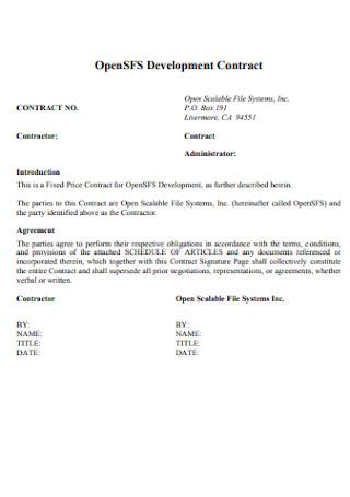 Standard Development Contract