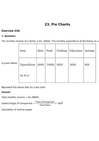 Standard Pie Chart Template