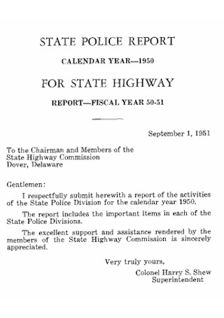State Police Report Template
