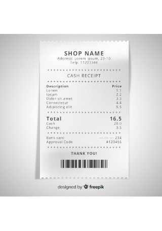 10+ SAMPLE Store/Shop Receipts in PDF