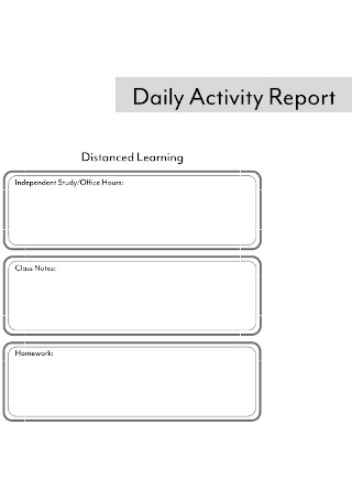 Student Daily Activity Report