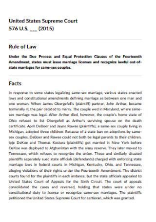 Supreme Court Case Brief