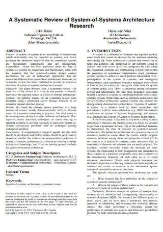 Systematic Review of System