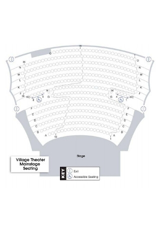Theater Mainstage Seating Chart