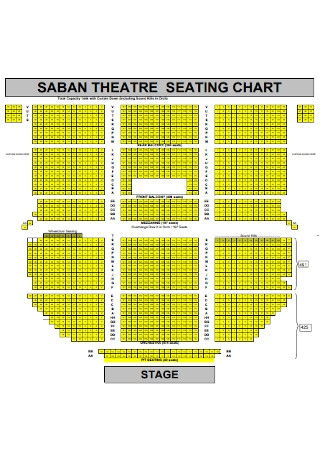 Theater Seating Chart Format