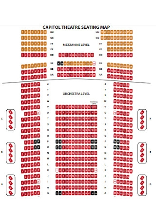 Theater Seating Map Chart