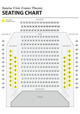Theatre Center Seating Chart